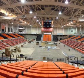 Sports Arena Bleacher Installation