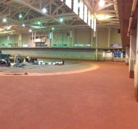New Indoor Track Installation